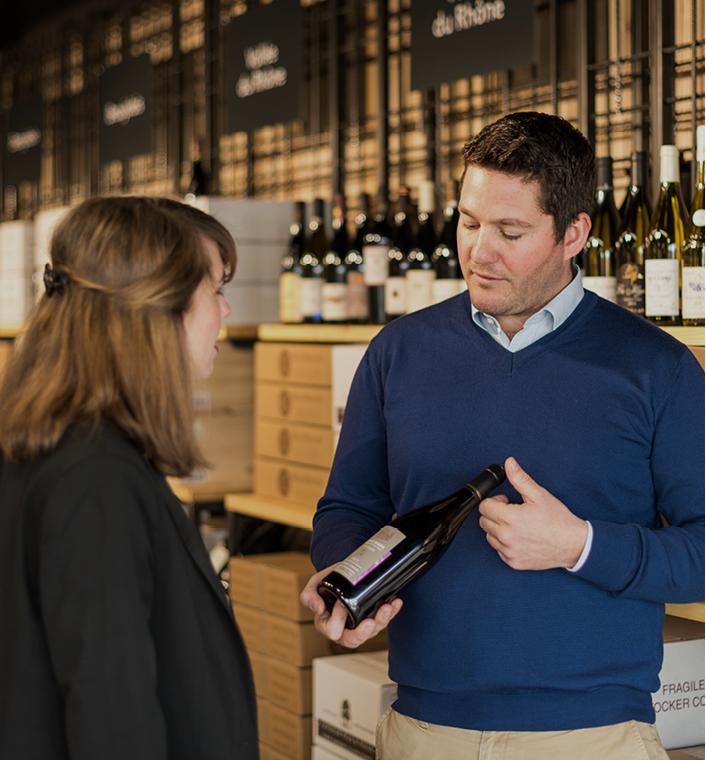 Vente de vins - Vente au carton, vente à l'unité, fourniture -Particulier